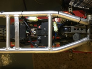 Battery, ignition box and solenoid will be protected by an aluminium plate