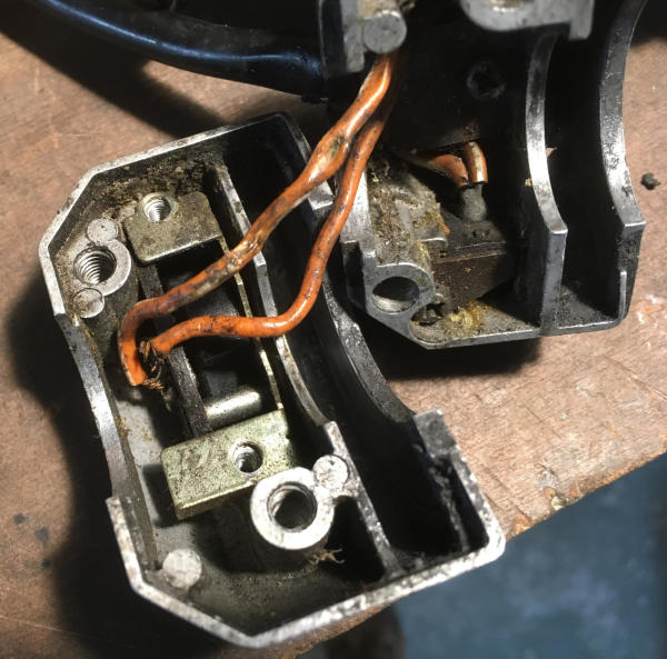 Switchgear cables on old bikes are often broken or crushed, especially on the throttle side