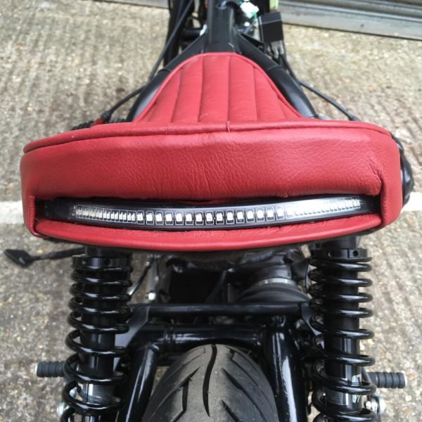 It might remind you of Wallace's teeth but the strip LED tail light is very bright
