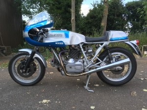 A beautiful bevel Ducati, with an engine built by Brian Capper