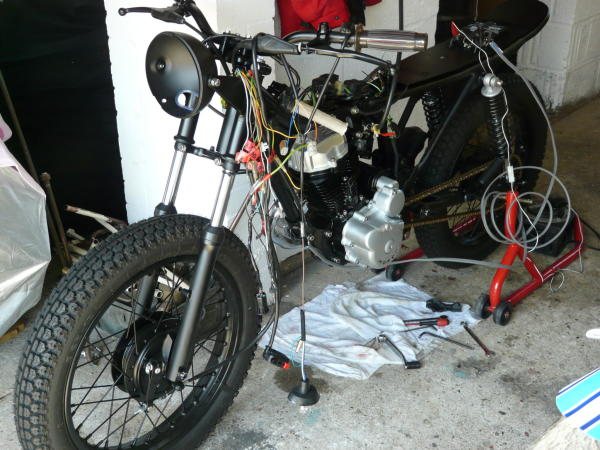 Tidy bike, ratty wiring