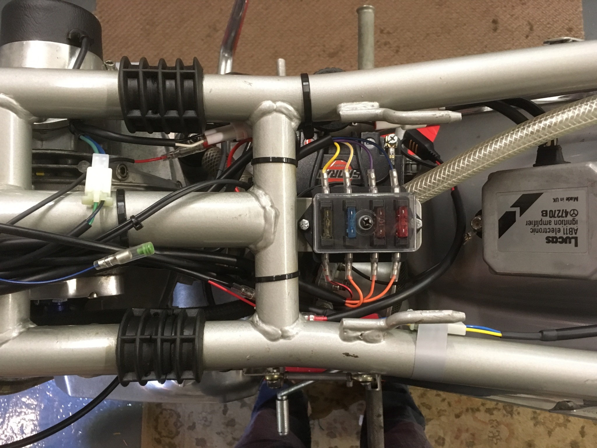 Brendans 1976 Ducati 900ss Rupes Rewires Motorcycle Electronic Fuse Box Before