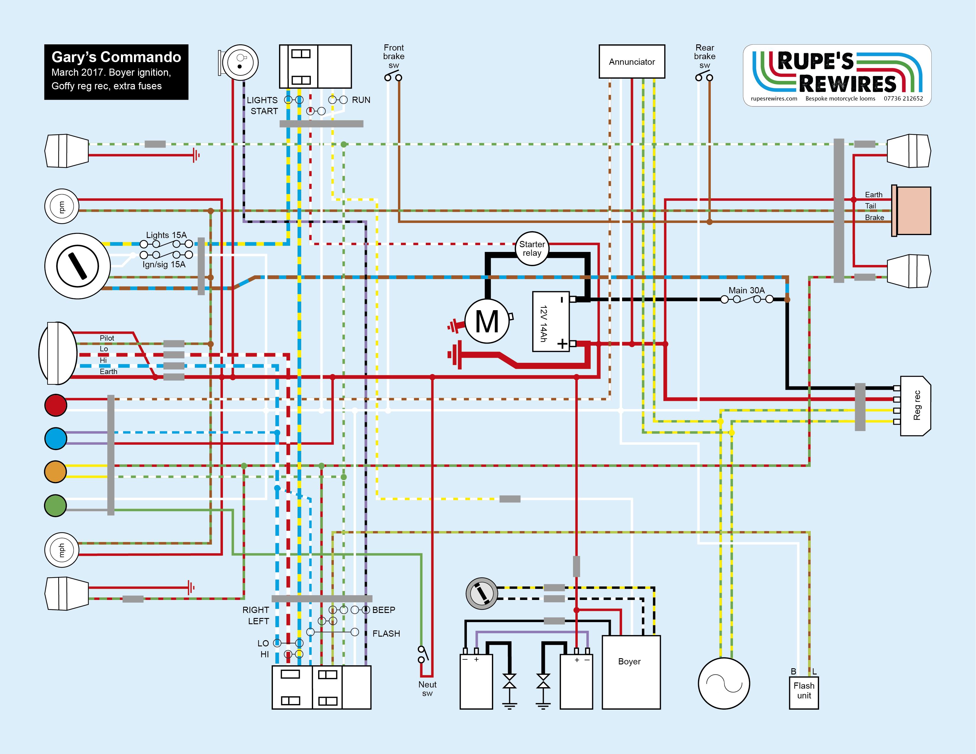 Garys Commando Rupes Rewires Boyer Ignition Wiring Diagram