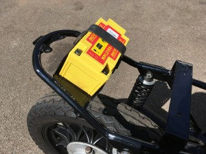Scott made this new tray to take a Lithium Iron battery supplied by Rex's Speedshop