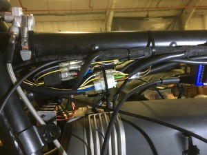 The new loom and connectors fitted snugly under the main frame tube
