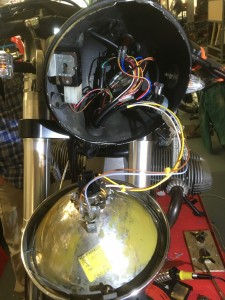 One of Simon's aims was to de-clutter the original headlight wiring