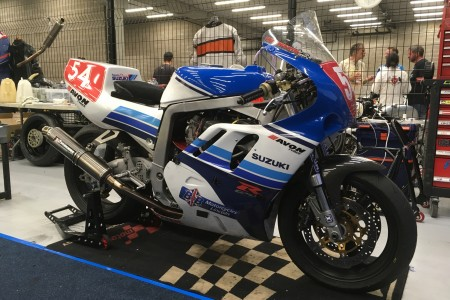 The bike in the pits at Spa