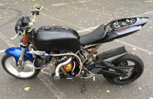 It's a CBX with a big turbo, GSX-R back end and modern front