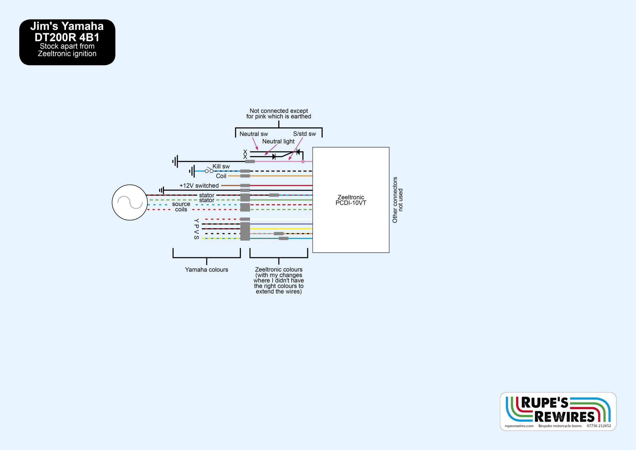 Yamaha Dt200r Wiring Diagram : Yamaha dt r wiring diagram portal