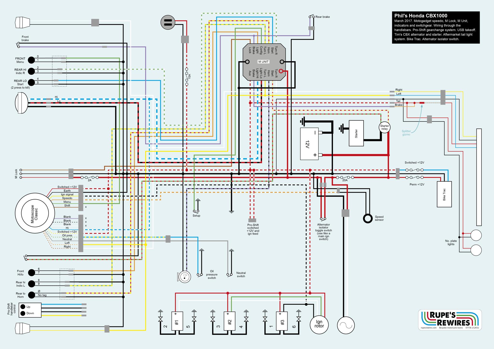 Honda Cbx Wiring Schematic Diagrams 2012 Cr V Diagram Phil S Cbx1000 Rupe Rewires 550
