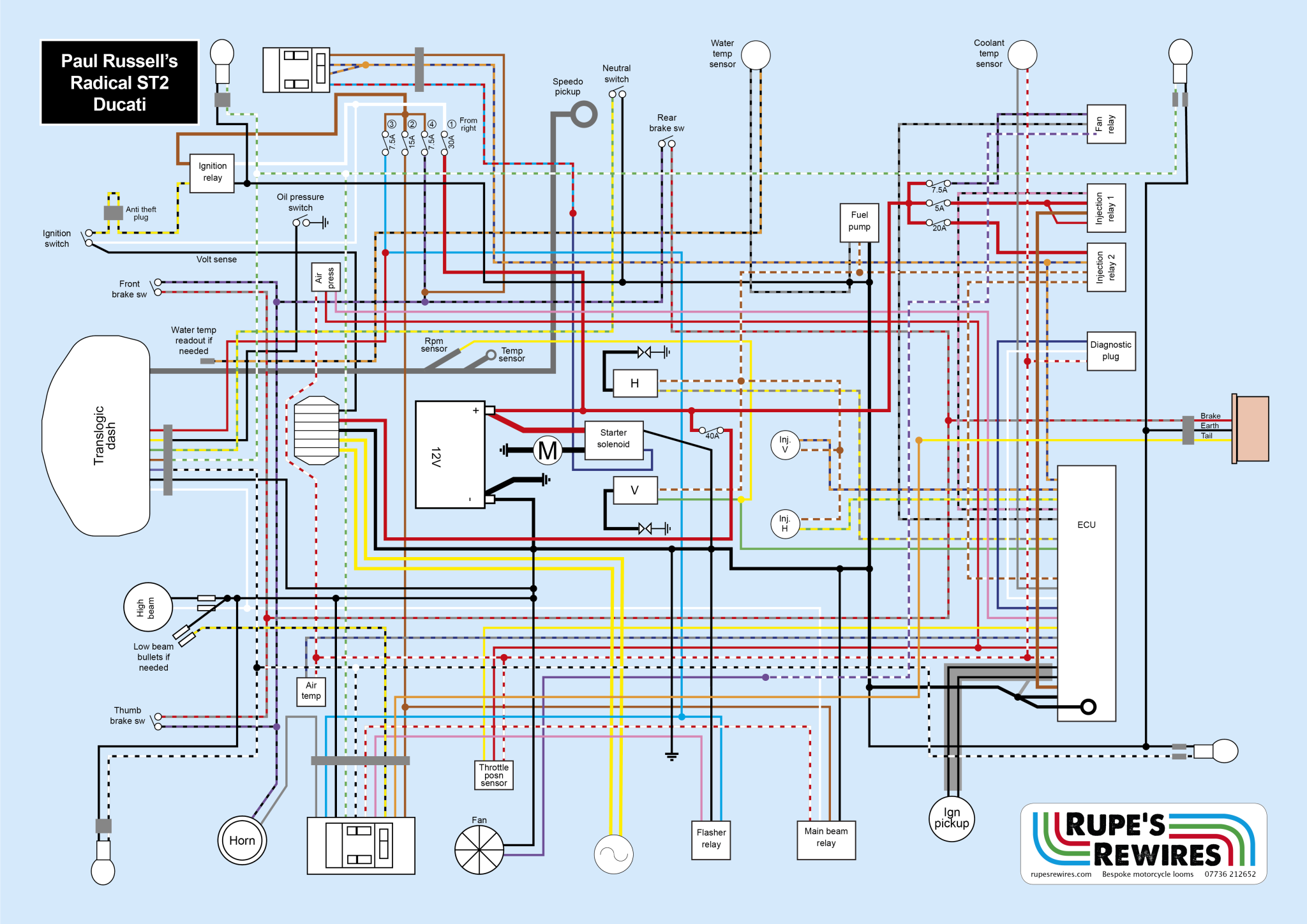 Radical St on Xs650 Wiring Diagram
