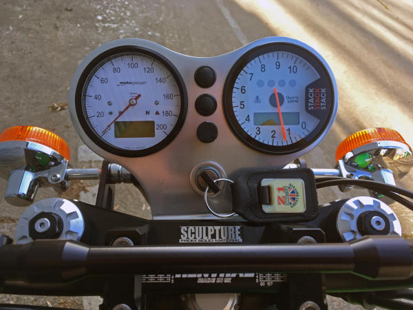 Motogadget Classic speedo and Stack tacho: not exactly the cheap options