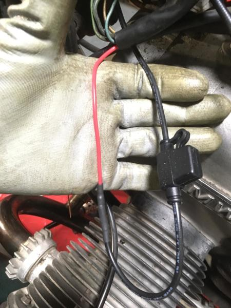 ...pull it through the main harness bundle, and add a fuse